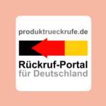 Rückruf-Portal in Deutschland